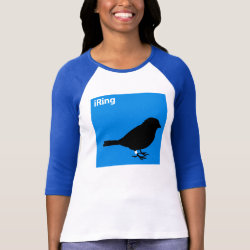 Ladies Raglan Fitted T-Shirt with iRing Blue design