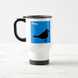 Travel / Commuter Mug with iRing Blue design