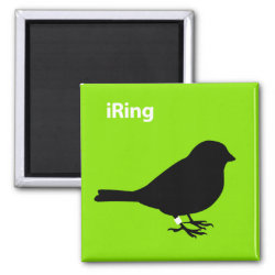 Square Magnet with iRing Green design