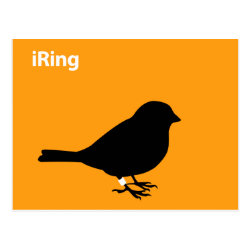 Postcard with iRing Orange design