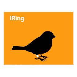 Postcard with iRing Orange design