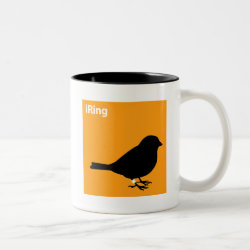 Two-Tone Mug with iRing Orange design