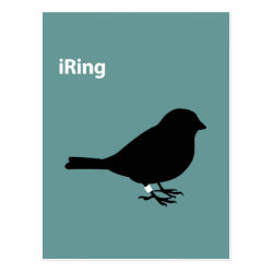 Postcard with iRing Green design