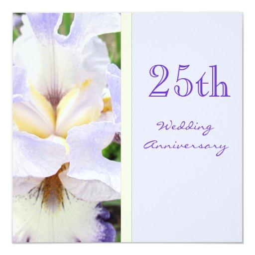 Iris 25th Wedding Anniversary Invitation