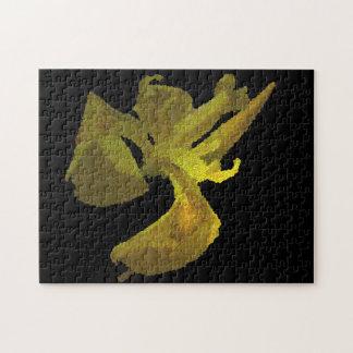 iris amarillo (imagen digital) puzzles