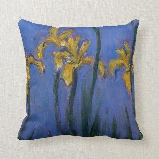 Iris amarillos cojín