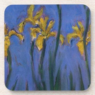 Iris amarillos posavasos de bebidas