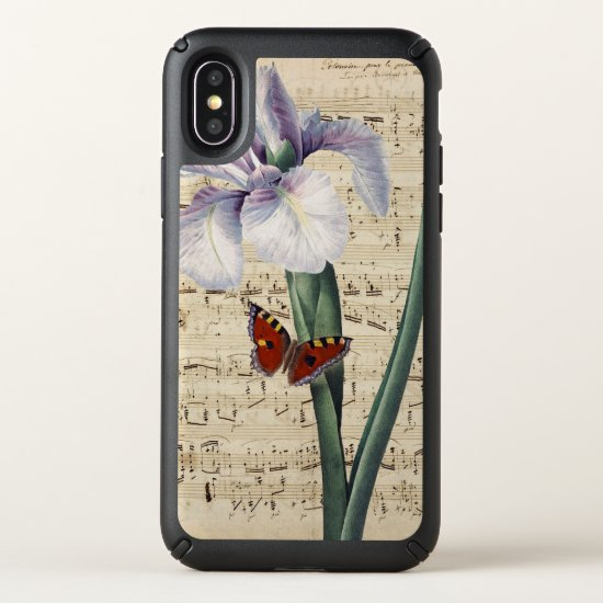 iris and butterfly music speck iPhone x case