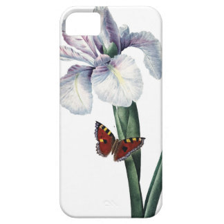Iris and butterfly vintage image by Redoute iPhone SE/5/5s Case