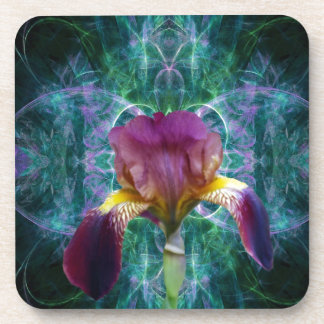 Iris and its meaning coasters