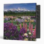 Iris and Lupine garden and Teton Range, Vinyl Binders