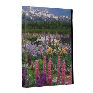 Iris and Lupine garden and Teton Range, iPad Folio Covers