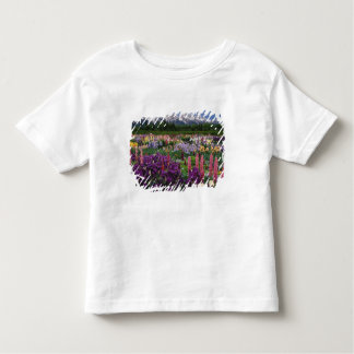 Iris and Lupine garden and Teton Range, Toddler T-shirt