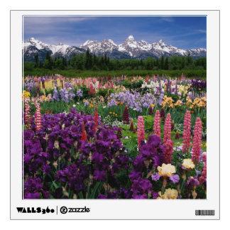 Iris and Lupine garden and Teton Range, Room Graphics