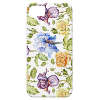 Iris and roses watercolor floral pattern iPhone SE/5/5s case