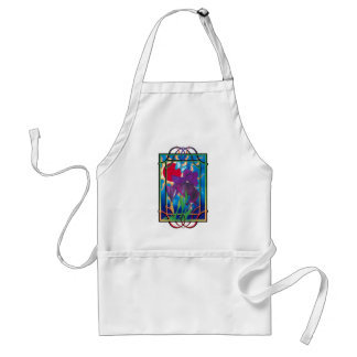 Iris and sun adult apron