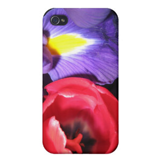 Iris and Tulips Case For iPhone 4