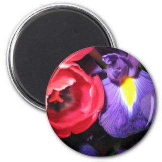 Iris and Tulips Fridge Magnet