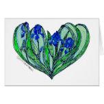 "Iris ""Art Nouveau"" wedding invitation or Card"