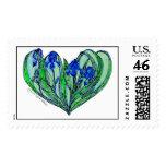 Iris Art Nouveau Wedding - Romance Invitation Stamps