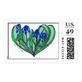 Iris Art Nouveau Wedding - Romance Invitation Postage Stamp