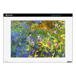 Iris at the sea-rose pond2 by Claude Monet Laptop Decals