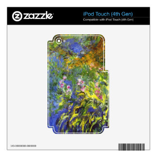 Iris at the sea-rose pond2 by Claude Monet iPod Touch 4G Decals