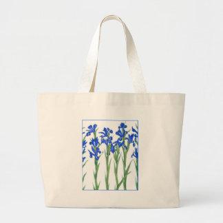 Iris azul bolsa tela grande