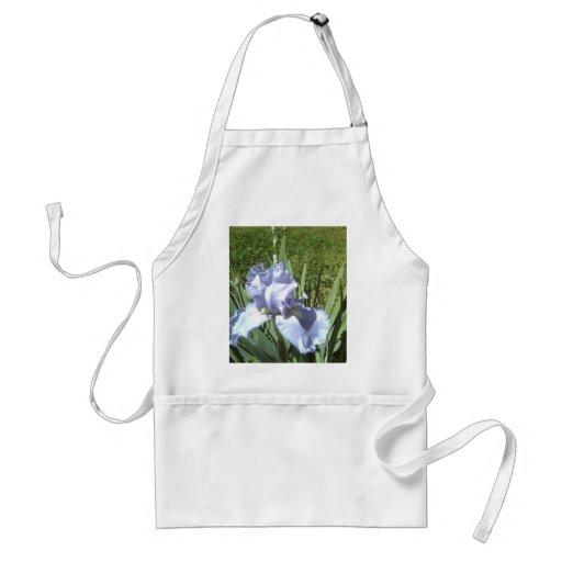 iris azul delantal