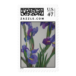 Iris azul estampillas