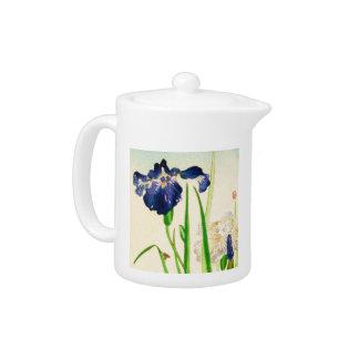 Iris azul - impresión japonesa de la acuarela