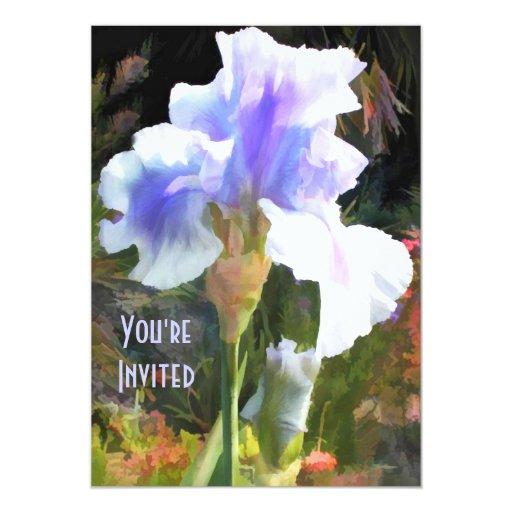 Iris azul invitaciones personalizada