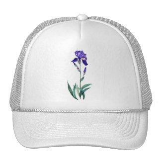 Iris azul por PMACarlson Gorros Bordados