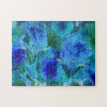 Iris azul puzzle con fotos