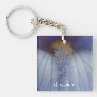 Iris azul y amarillo de BLYE Llavero Cuadrado Acrílico A Una Cara