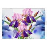 Iris azules tarjeta pequeña