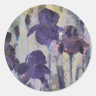 Iris barbudo, flores púrpuras, arte de la flor
