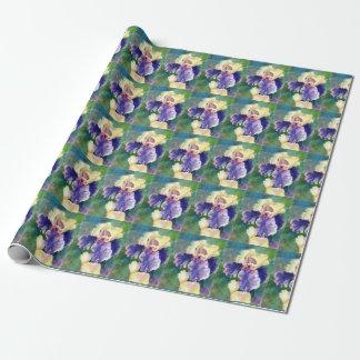 Iris barbudo gigante papel de regalo