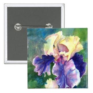 Iris barbudo gigante pin cuadrado