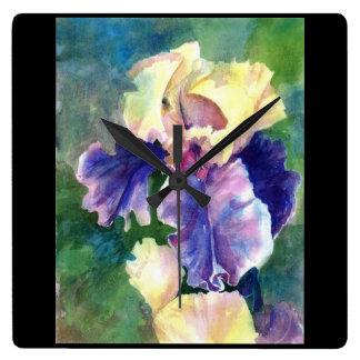 Iris barbudo gigante reloj cuadrado