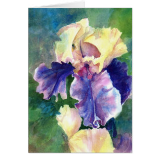 Iris barbudo gigante tarjeta de felicitación