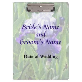 Iris Best Bet Wedding Products Clipboards