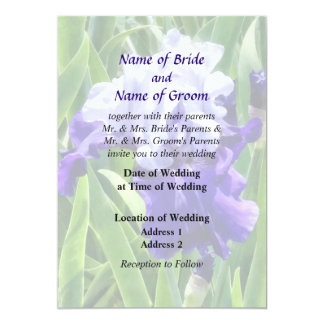 Iris Best Bet Wedding Products 5x7 Paper Invitation Card