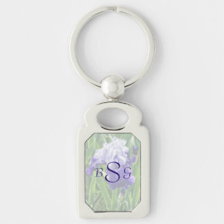 Iris Best Bet Wedding Products Silver-Colored Rectangular Metal Keychain