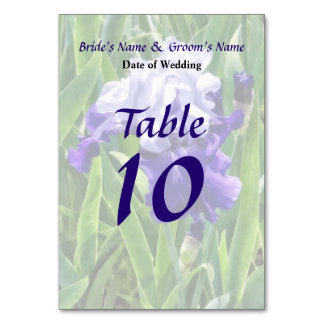 Iris Best Bet Wedding Products Table Cards