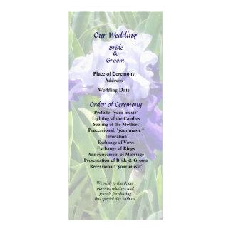 Iris Best Bet Wedding Program