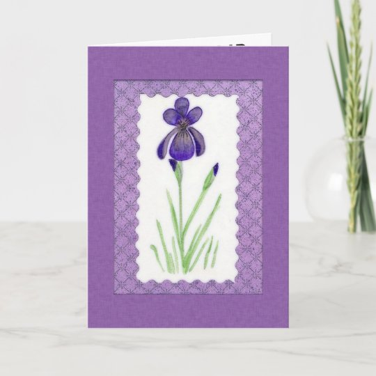 Iris Birthday Card Large Print