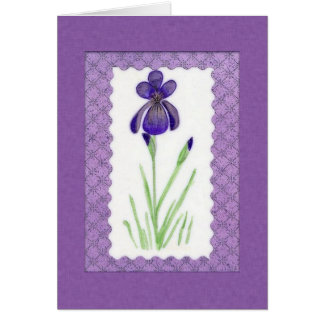 Iris Birthday Card (Large Print)