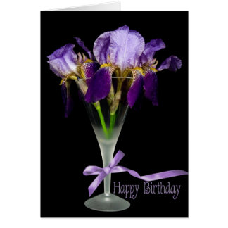 Iris Birthday Drink Card