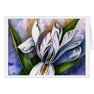 Iris blanco 2 de Barbara Beck-Azar Tarjeta De Felicitación